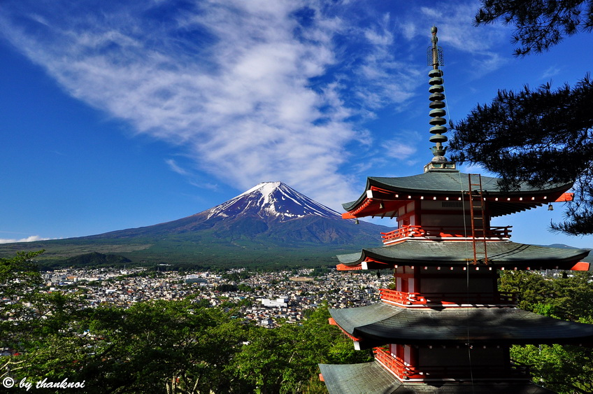 CHureito pagoda, fuji five lake