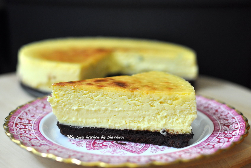 Passion fruit mango cheese cake