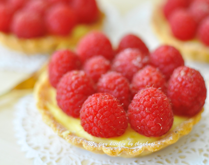 Raspberry Passion Fruit Tart