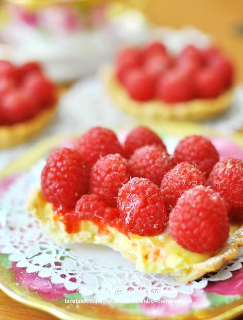 Raspberry Passion Fruit Tart