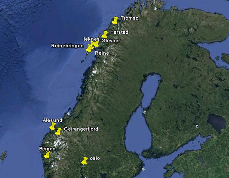 แผนเที่ยว Norway