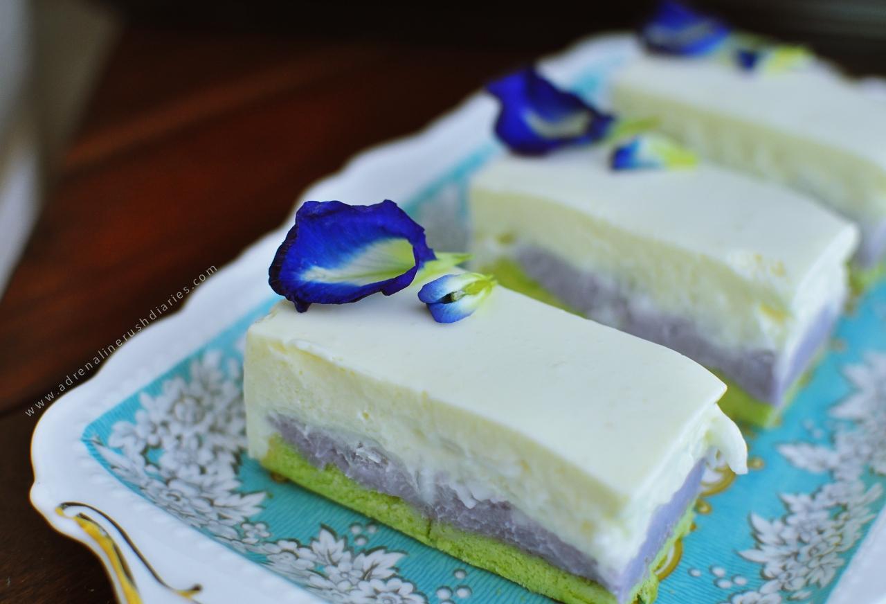 Pandan Taro Young Coconut Mouse Cake