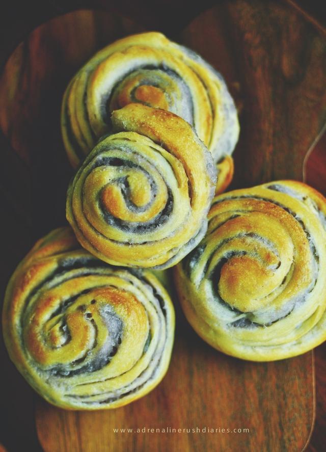 Taro Swirl Bread