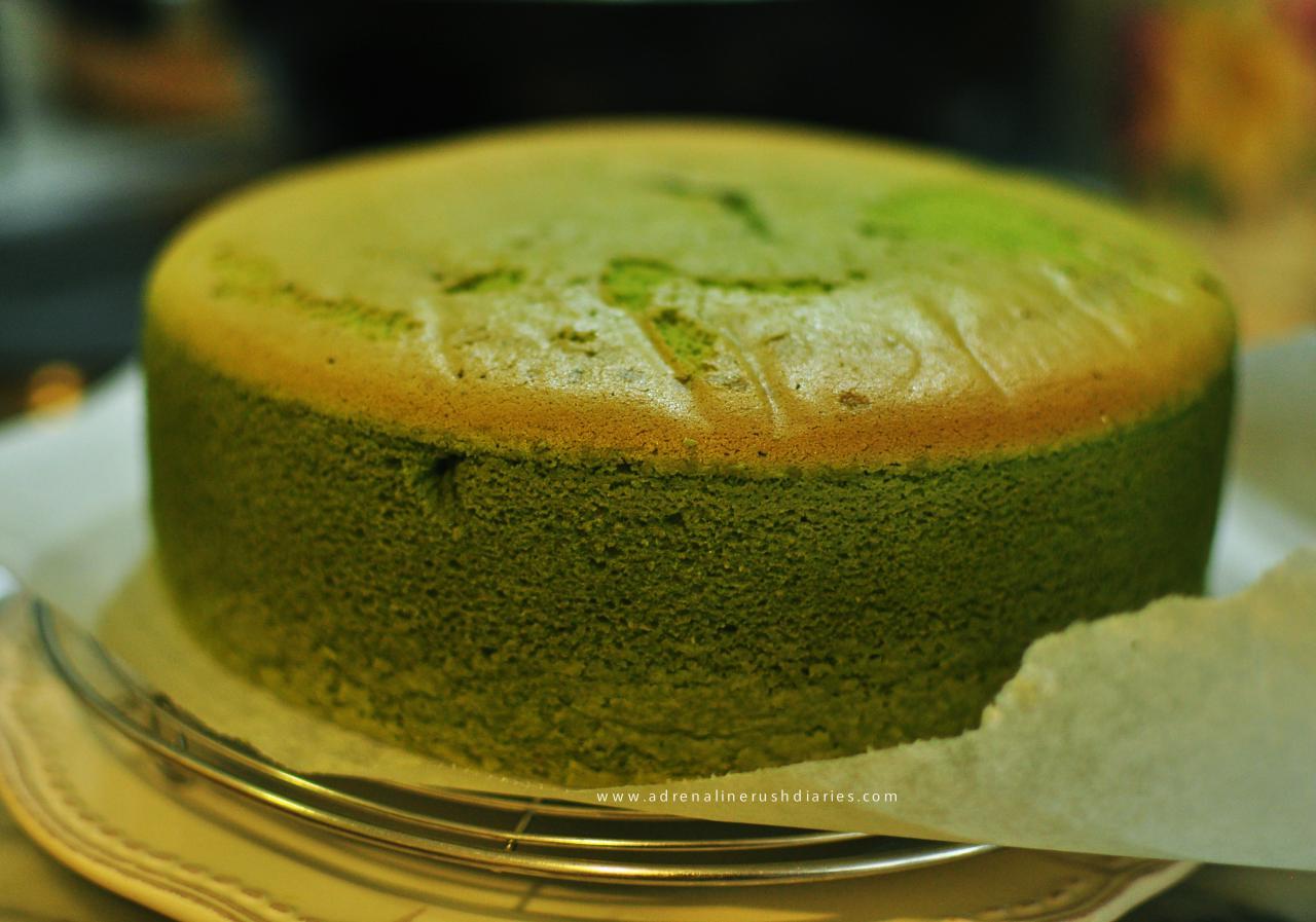 Matcha Green Tea Cotton Light Cheesecake