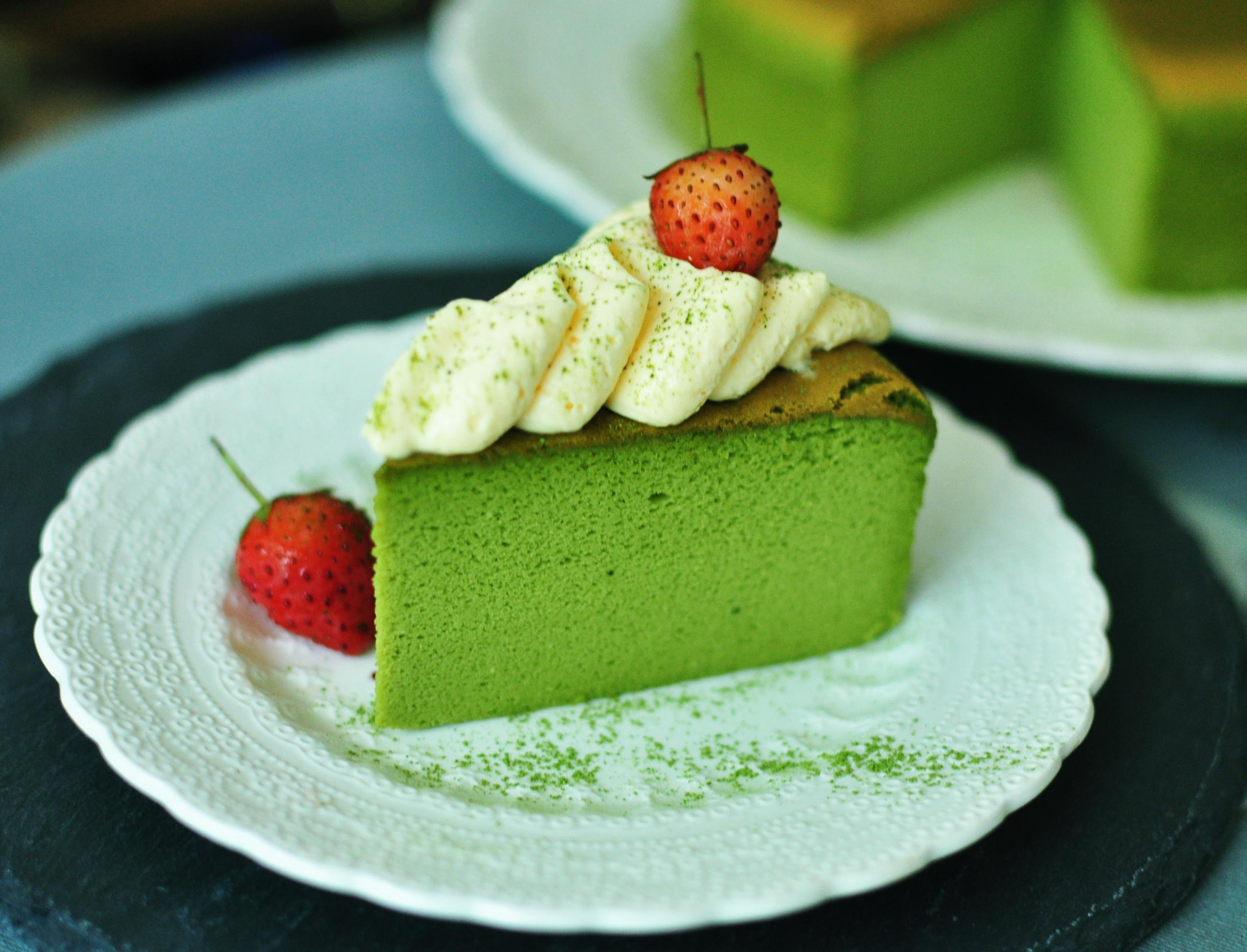 Matcha Green Tea Cotton Light Cheesecake