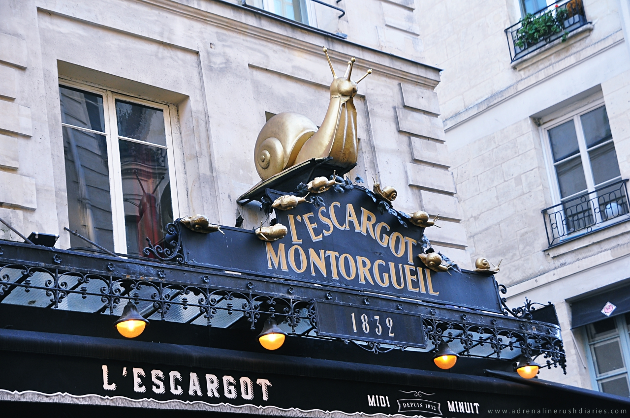 French Cuisine and Snails @ L'Escargot Montorgueil