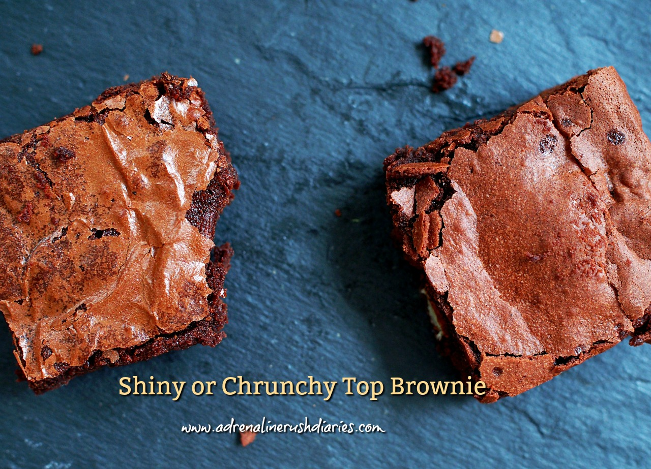 shiny or crunchy top brownie