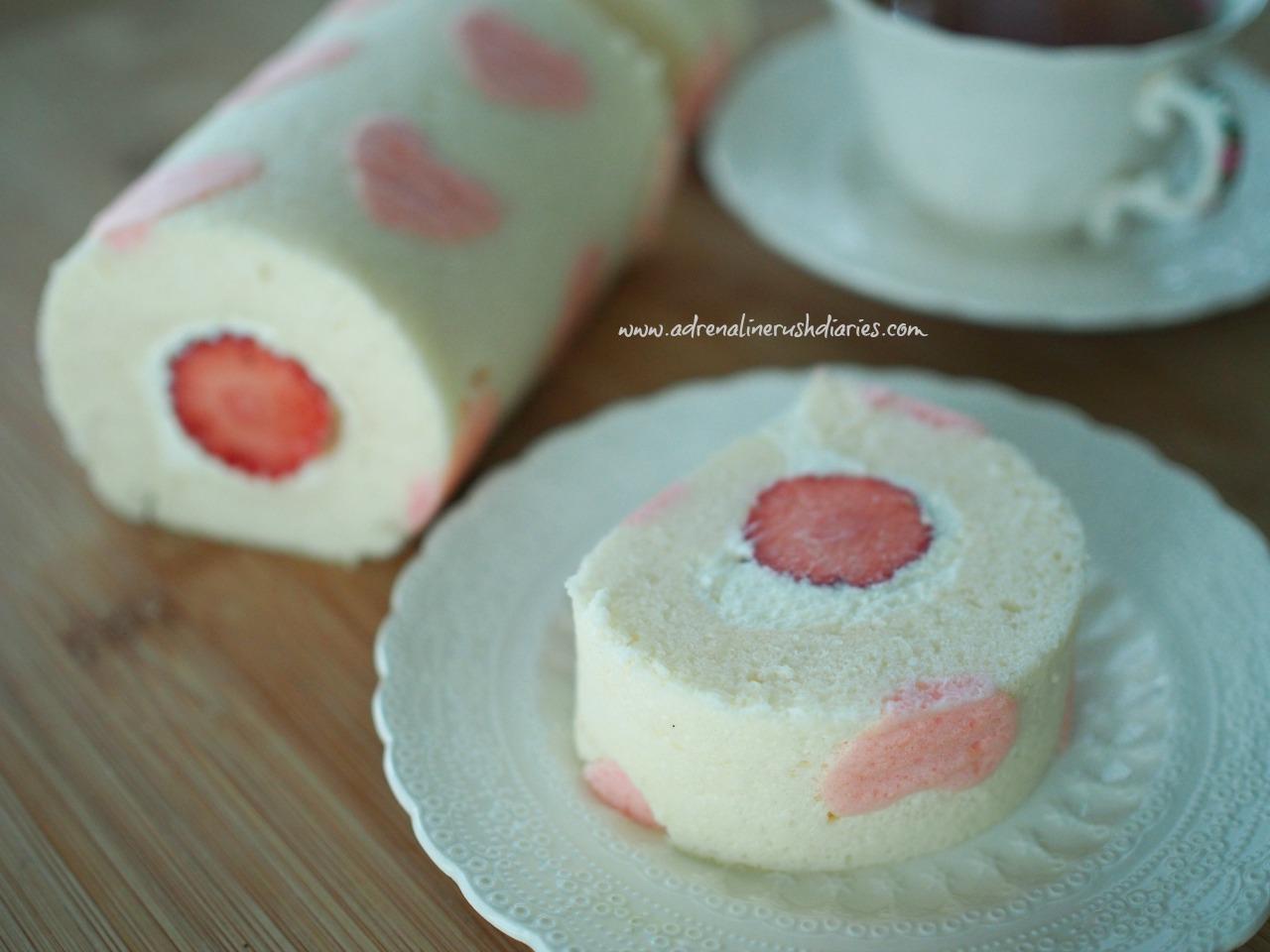 cute roll cake