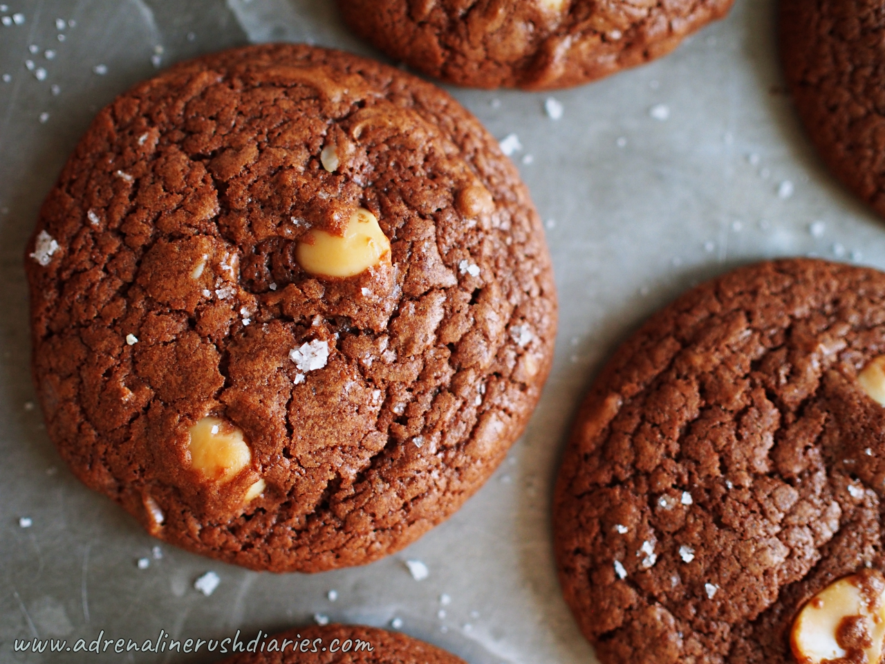 Salted Dulcey Brownie Cookies